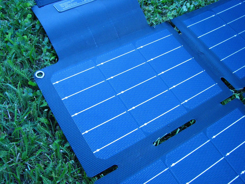 Panel surface close-up
